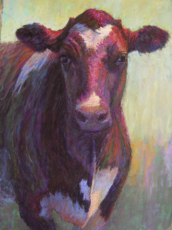 Cows Poster featuring the painting Phoebe Of Merry Mead Farm by Susan Williamson