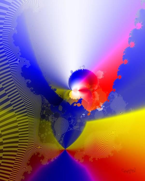 Fractal Art Poster featuring the digital art Phoenix Rising by Caren Appel