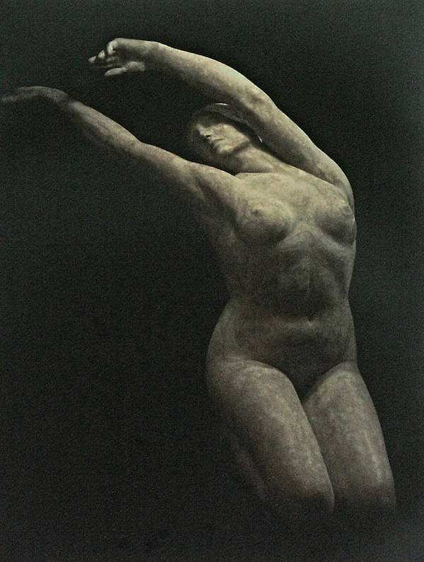 Female Figure Poster featuring the painting Photo Of Female Sculpture By The Artist by Gary Kaemmer