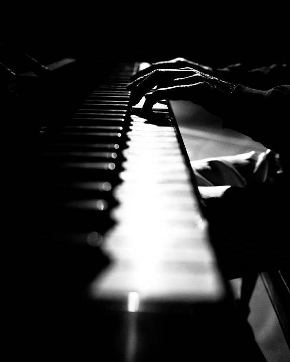 Piano Poster featuring the photograph Piano Player by Scott Sawyer