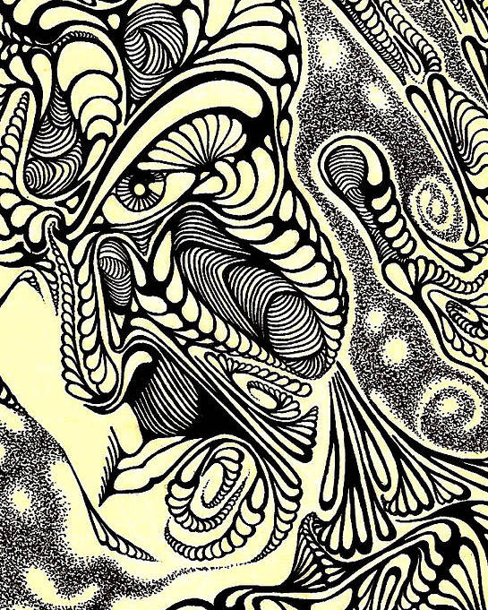 Abstract/ Drawings Poster featuring the drawing Pieces by Jeff DOttavio