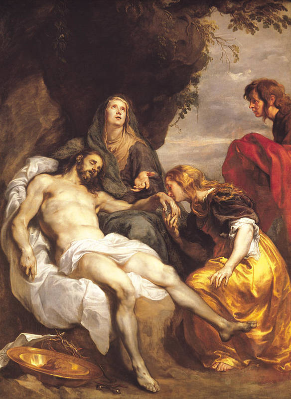 Pieta Poster featuring the painting Pieta by Sir Anthony van Dyck