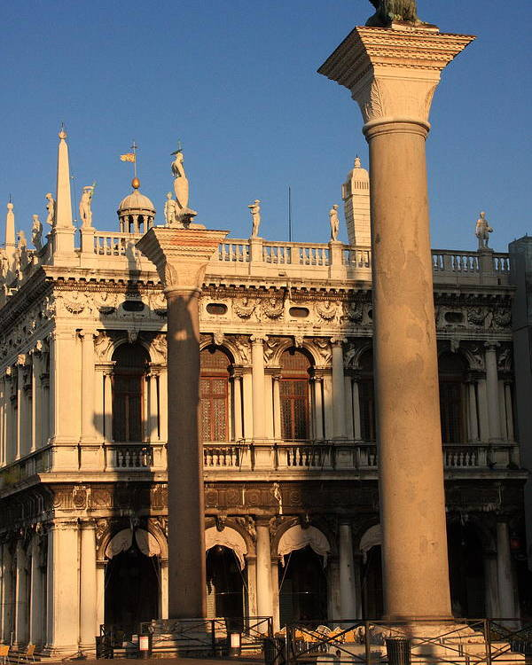 Venice Poster featuring the photograph Pillars At Piazzetta San Marco In Venice by Michael Henderson