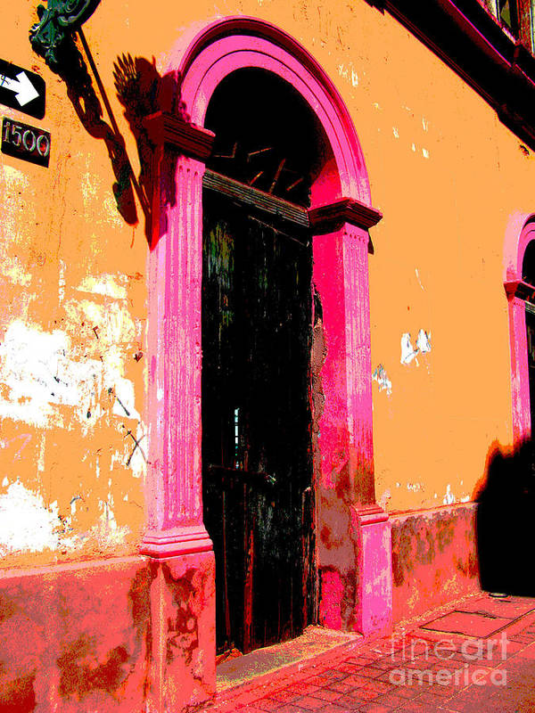 Darian Day Poster featuring the photograph Pink Door 1 By Darian Day by Mexicolors Art Photography
