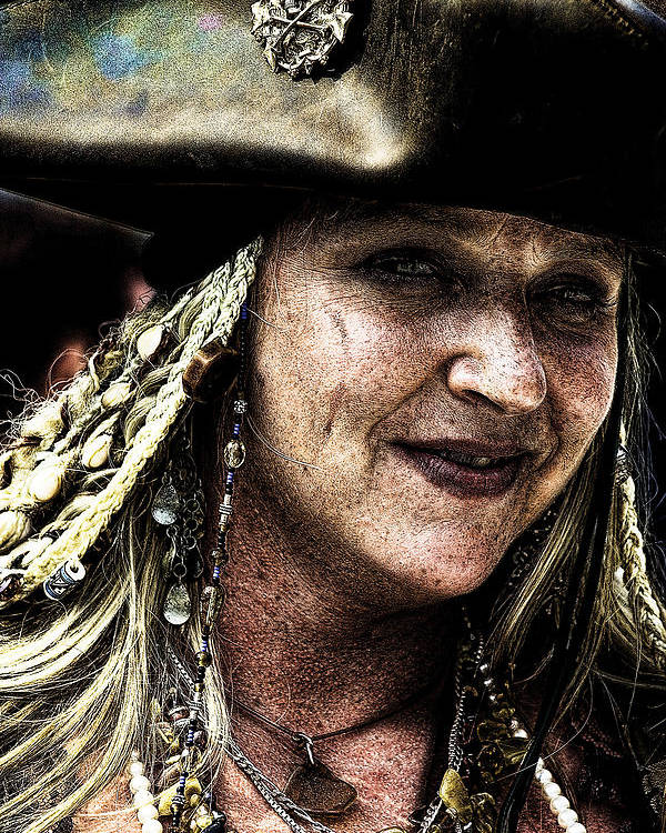 Pirates Poster featuring the photograph Pirate Queen by David Patterson