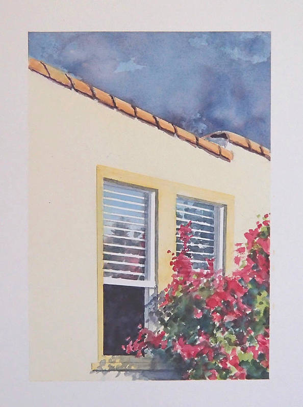 Cottage Poster featuring the painting Pismo Cottage by Philip Fleischer