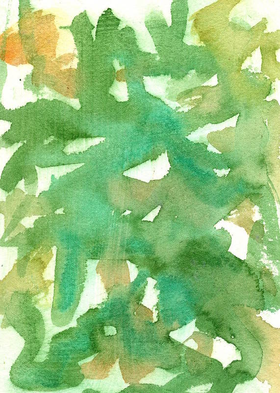 Watercolor Poster featuring the painting Pistachios by Marcy Brennan