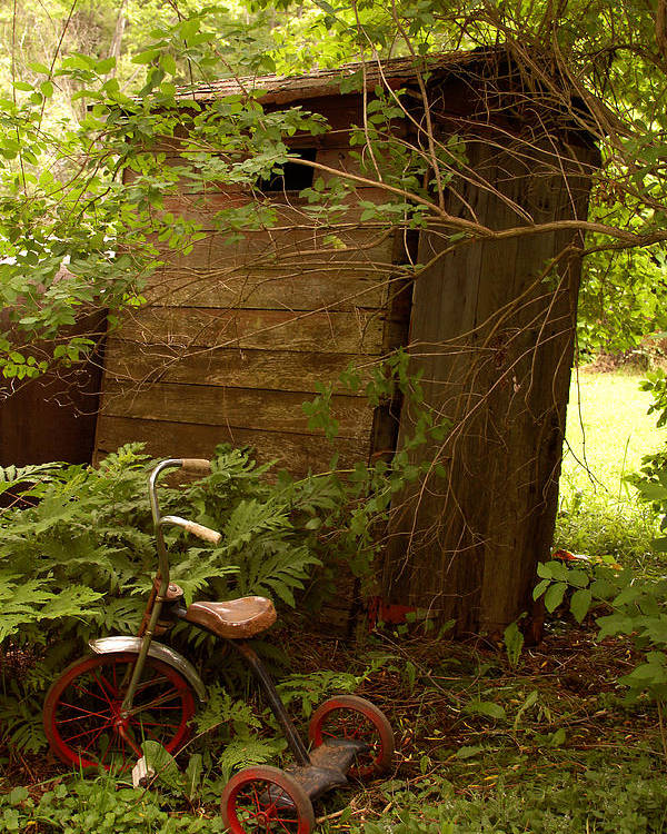 Outhouses Poster featuring the photograph Pit Stop by Linda McRae
