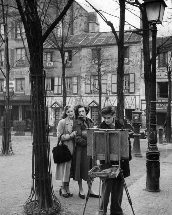 Adult Poster featuring the photograph Place Du Tertre by Kurt Hutton