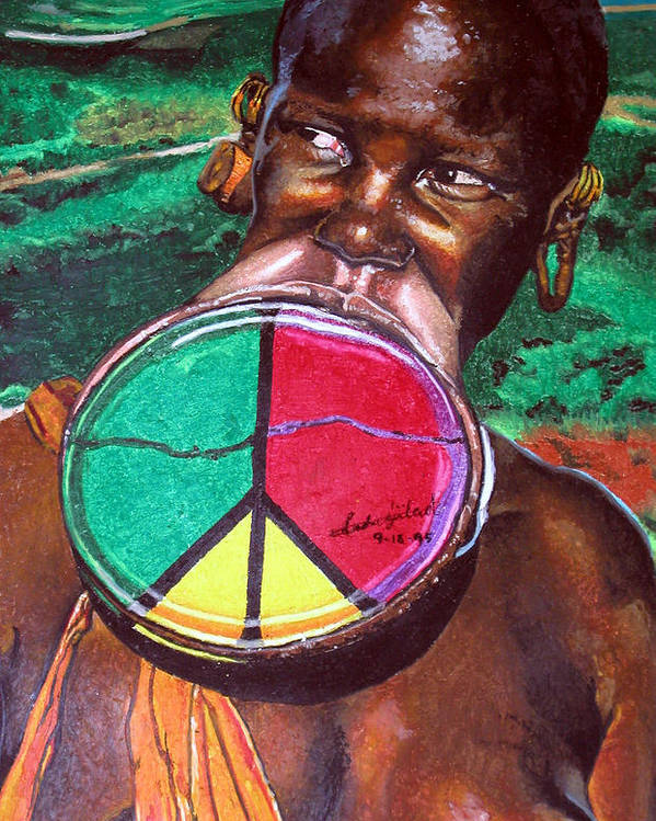 Africa Poster featuring the painting Plains Of Peace by Andre Ajibade