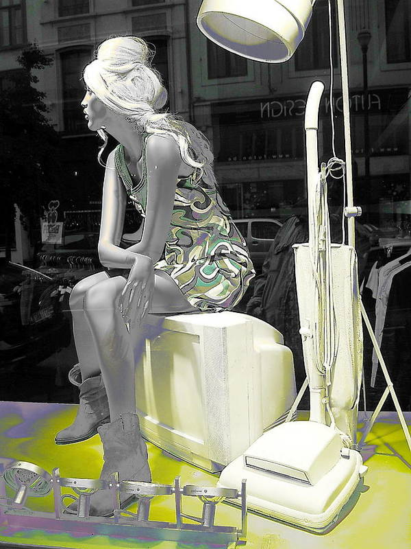 Plasticgirl In A Show-window Bruxelles��������������� - Bruxelles Bruxelles Poster featuring the photograph Plasticgirl In A Show-window Bruxelles - Bruxelles by Yury Bashkin