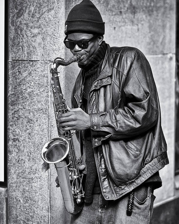 Sax Poster featuring the photograph Player 2 by James Bull