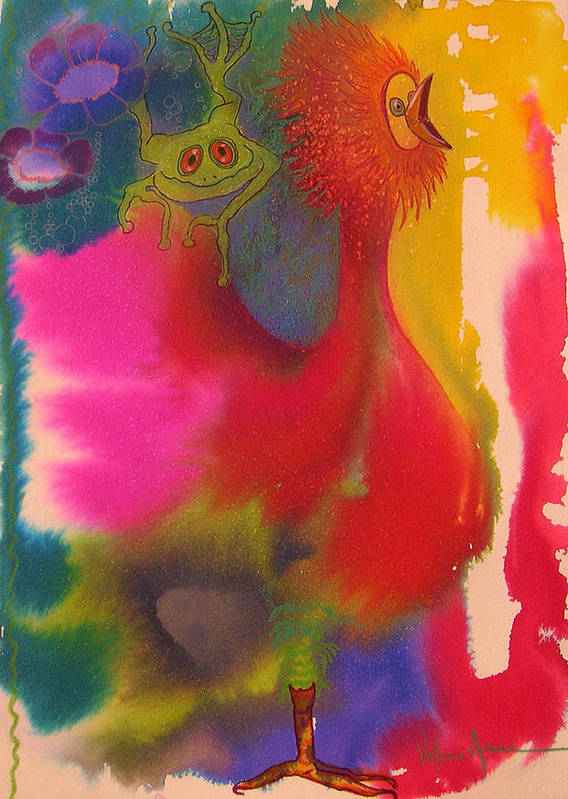Frog Poster featuring the painting Playmates 2 by Valerie Aune