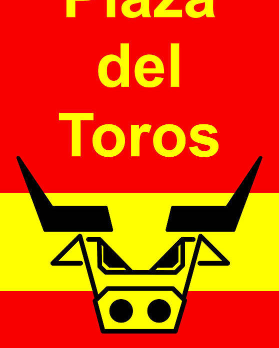Poster featuring the digital art Plaza Del Toros by Asbjorn Lonvig