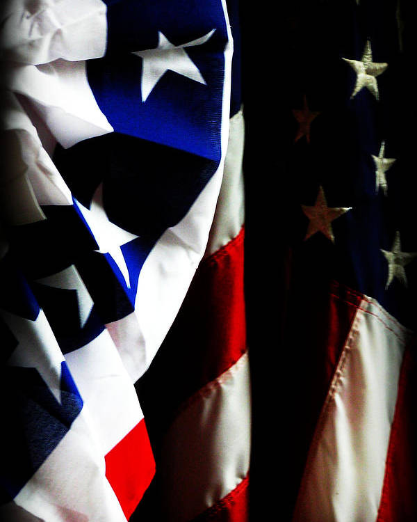 Flag Poster featuring the photograph Pledge To The Usa by Susie Weaver
