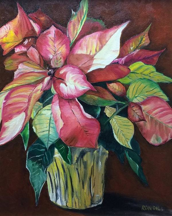 Poster featuring the painting Poinsettia by Ronald Dill