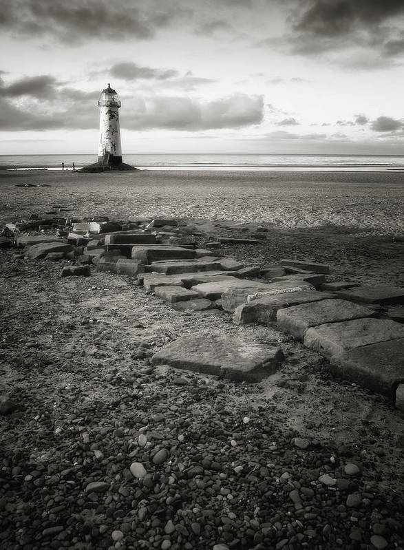Vertical Poster featuring the photograph Point Of Ayre Lighthouse by Jon Baxter