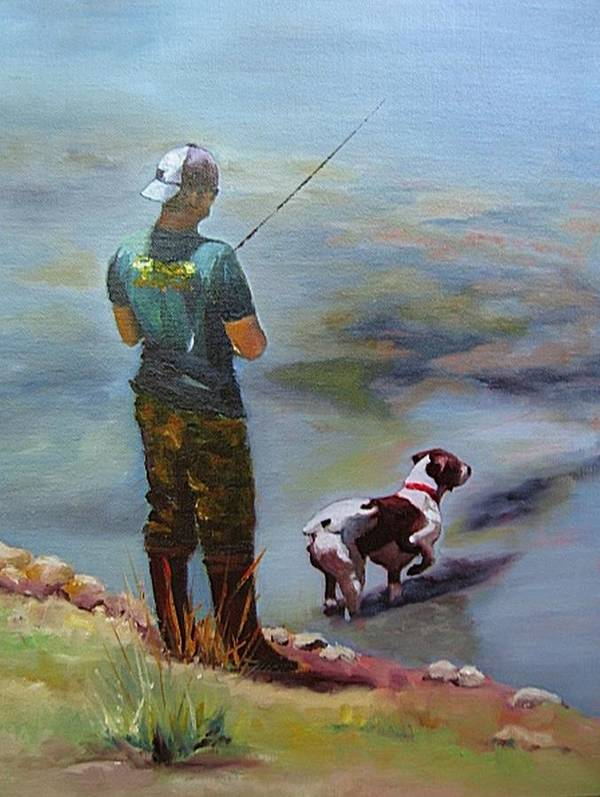 Animal Poster featuring the painting Pointin Fish by Vicki Brevell