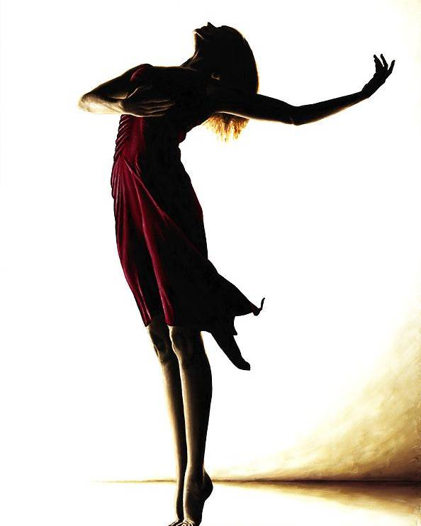 Ballet Poster featuring the painting Poise In Silhouette by Richard Young