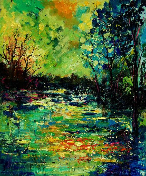 Pond Poster featuring the painting Pond 560120 by Pol Ledent