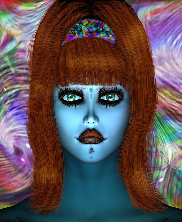 Art Poster featuring the digital art Poor Alice by Dorothy Lee
