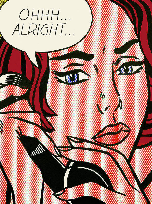 Pop Art Redhead Woman, Roy Lichtenstein Poster by Long Shot