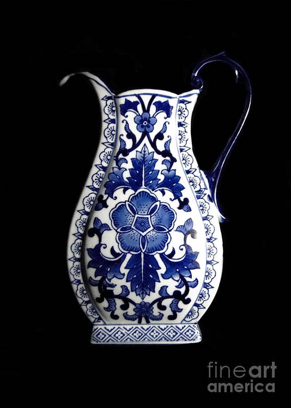 Blue And White Porcelain Poster featuring the photograph Porcelain1 by Jose Luis Reyes