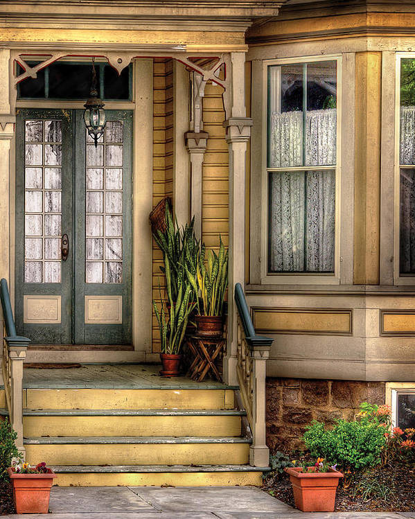 Savad Poster featuring the photograph Porch - House 109 by Mike Savad