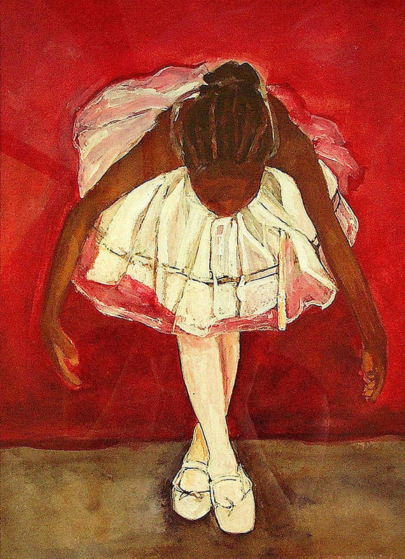 Ballerina Poster featuring the painting Port De Bras Forward by Amira Najah Whitfield