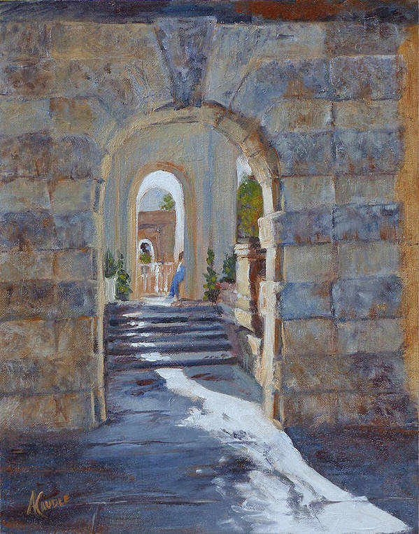 Doorways Poster featuring the painting Portals At Vizcaya by Ann Caudle