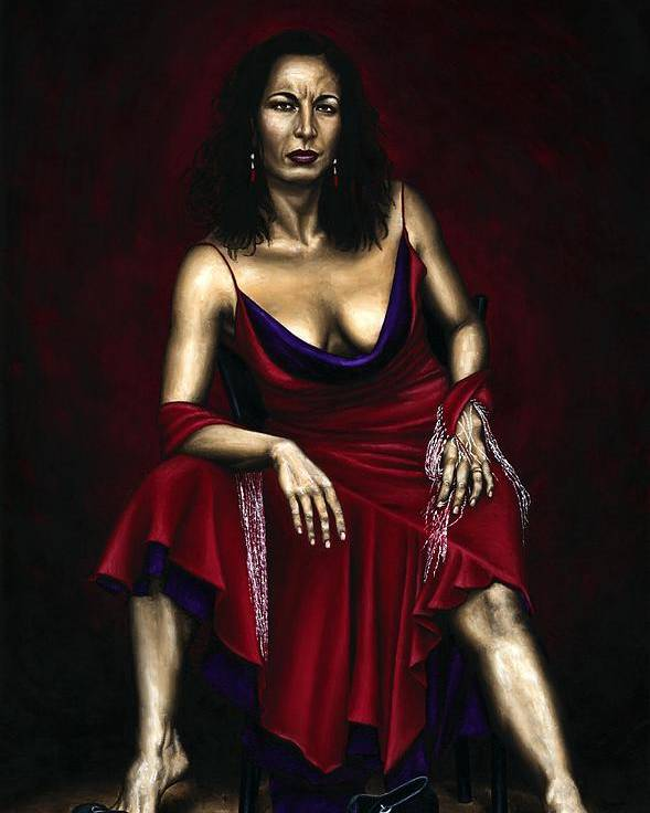 Portrait Poster featuring the painting Portrait Of A Dancer by Richard Young