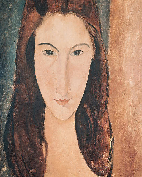 Portrait Poster featuring the painting Portrait Of A Young Girl by Amedeo Modigliani