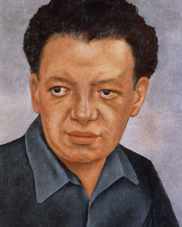 "FRIDA KAHLO Art Poster or Canvas Print /""Frida and Diego Rivera/"""