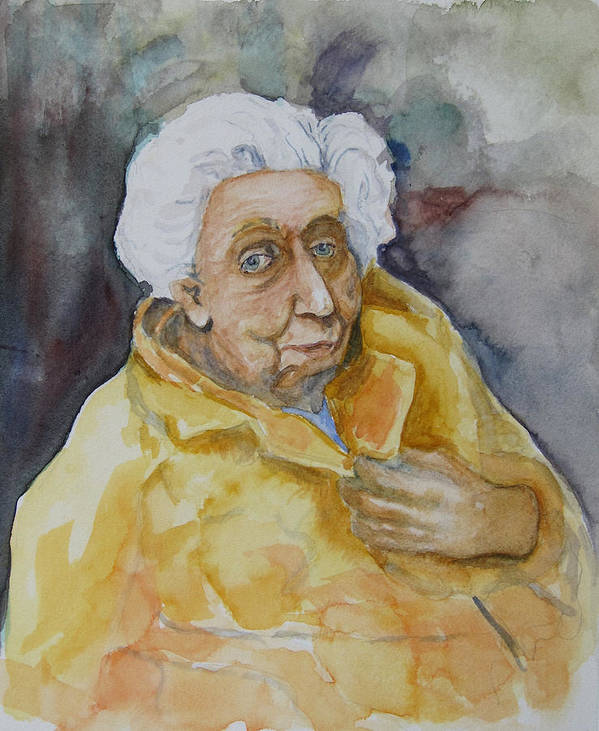 Portrait Poster featuring the painting Portrait Of Eudora Welty  by Dan Earle