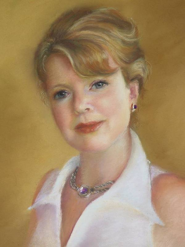 Portrait Of Jeanie Poster featuring the painting Portrait Of Jeanie by Melanie Miller Longshore
