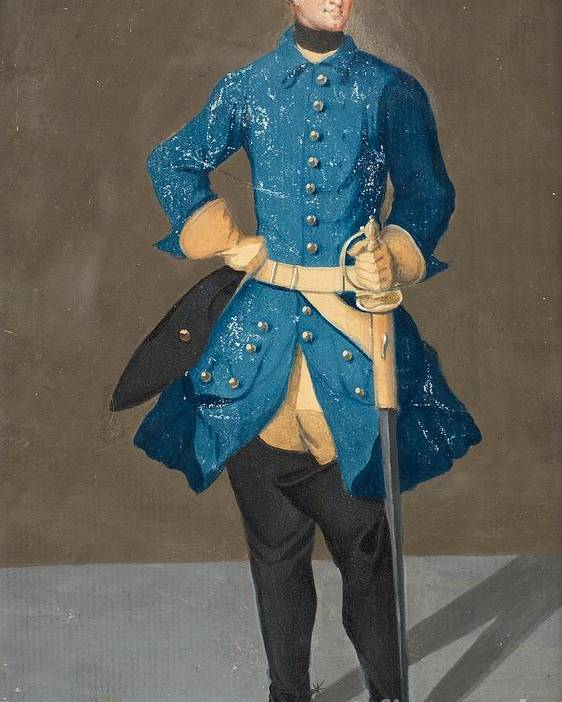 Fullfigure Portrait Of King Karl Xii Of Sweden (1682-1718). Young Poster featuring the painting Portrait Of King Karl Xii Of Sweden by MotionAge Designs