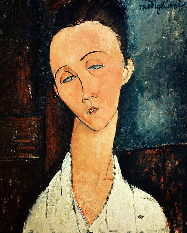 Portrait Poster featuring the painting Portrait Of Lunia Czechowska by Amedeo Modigliani