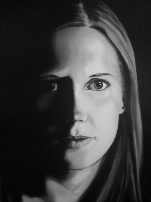 Painting Poster featuring the painting Portrait Of Michelle C. #3 by Kevin Schmoldt