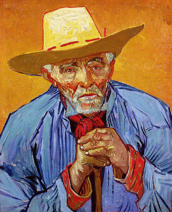 Portrait Poster featuring the painting Portrait Of Patience Escalier by Vincent van Gogh