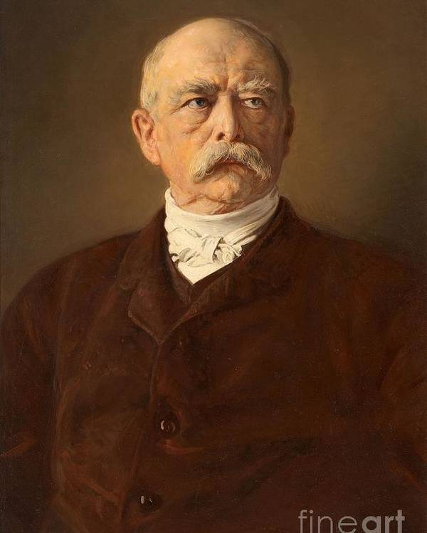 Portrait Of The Chancellor Otto Von Bismarck Poster By