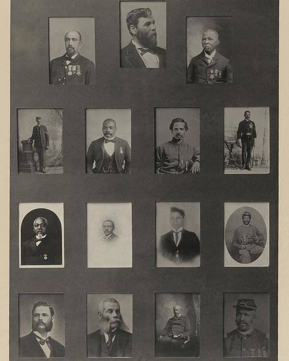 History Poster featuring the photograph Portraits Of 15 African American by Everett