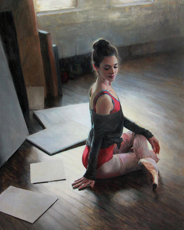 Dancer Poster featuring the painting Possibilities Await by Anna Rose Bain