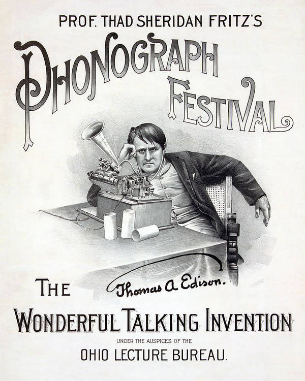 1890s Poster featuring the photograph Poster For A Music Festival, Text Reads by Everett