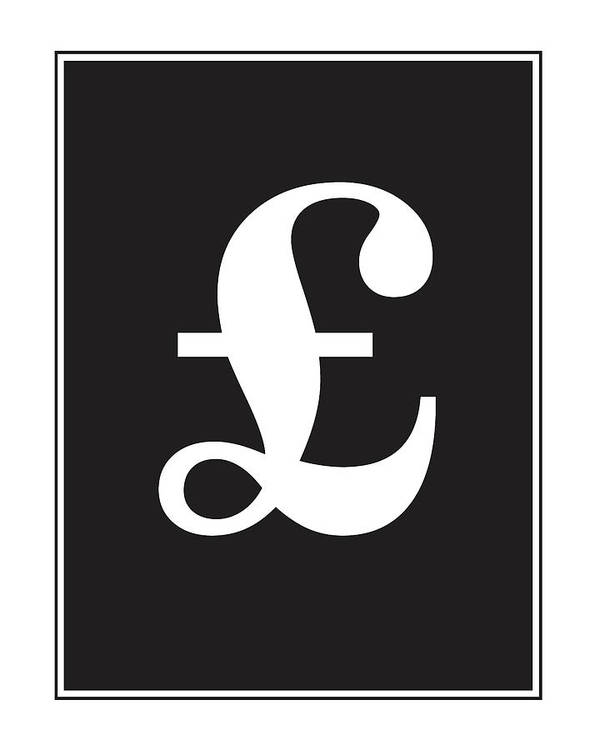 Pound Symbol Poster By Studio Grafiikka