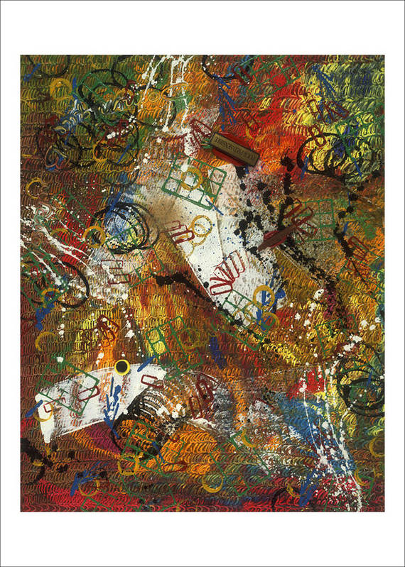Abstract Poster featuring the painting Pour Pied Sensible by Dominique Boutaud