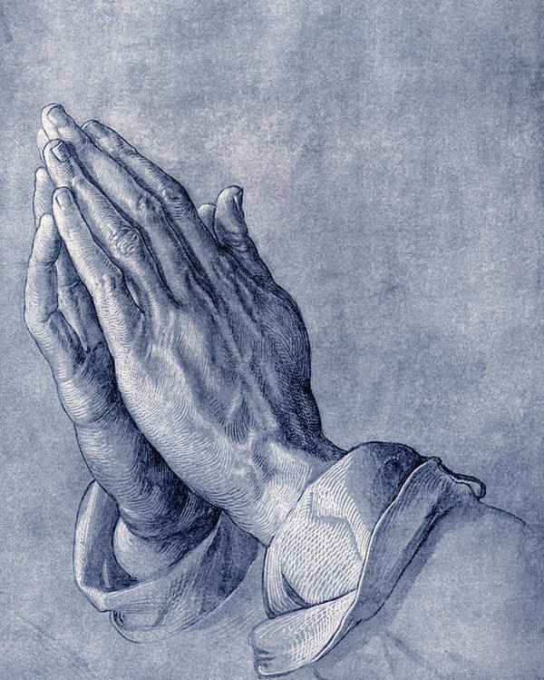 Durer Poster featuring the photograph Praying Hands, Art By Durer by Sheila Terry
