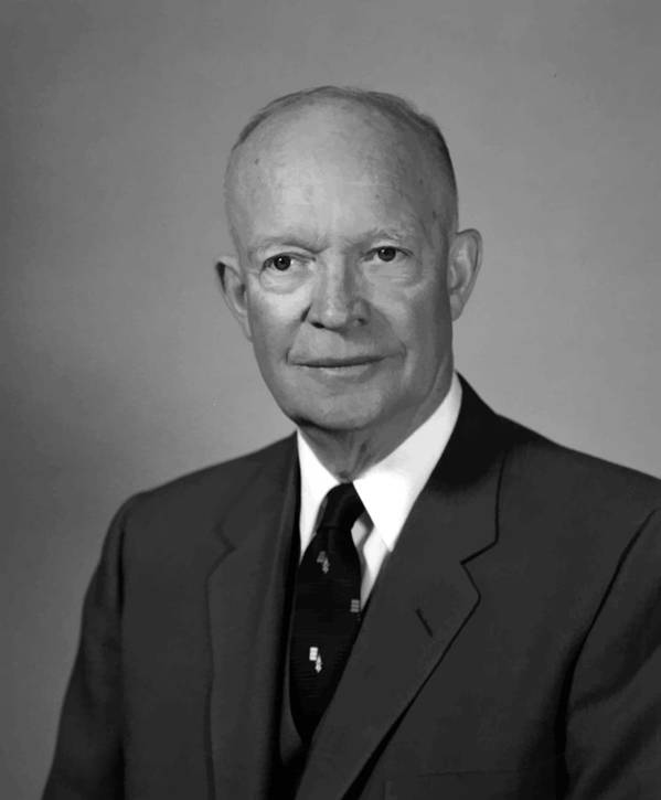 Eisenhower Poster featuring the painting President Eisenhower by War Is Hell Store