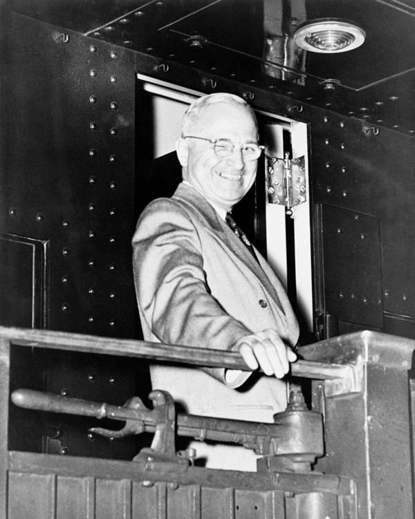 Harry Truman Poster featuring the photograph President Harry Truman by War Is Hell Store