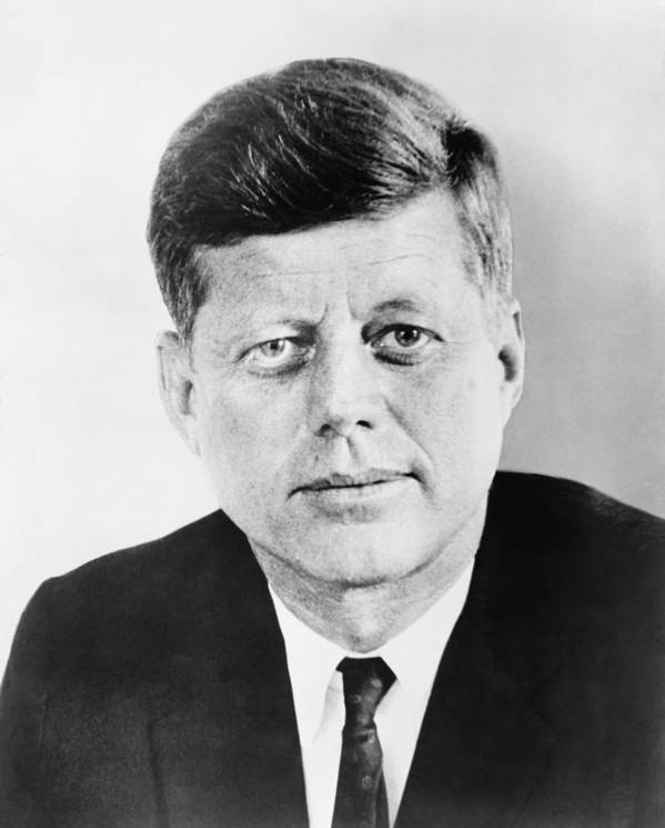 Jfk Poster featuring the photograph President John F. Kennedy by War Is Hell Store
