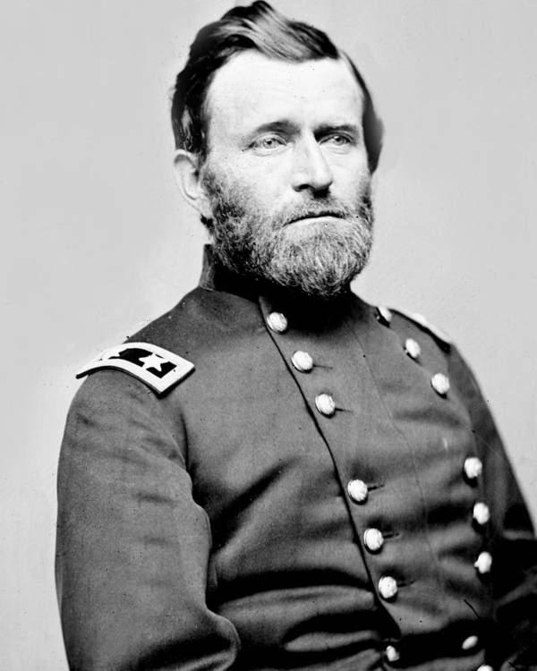 ulysses S Grant Poster featuring the photograph President Ulysses S Grant In Uniform by International Images